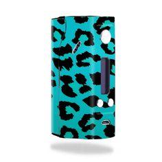 Teal Leopard Vape Skin for Wismec Reuleaux RX200