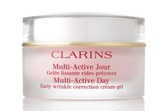 Multi-Active Day Early Wrinkle Correction Cream-Gel - Contains Clarins' age-defying plant extracts that does not simple prevent wrinkles but also correct the appearance of early lines and wrinkles. http://allenspharmacy.co.uk/