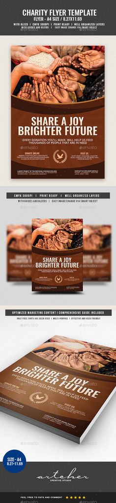 Charity Donation Flyer Template on Behance Yetu Pinterest - donation flyer template