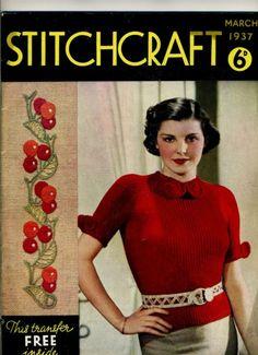 Pre ww2 Stitchcraft March 1937 WW2 WWII, Nice vintage magazine womens sewing | eBay