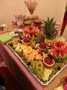Fruits table at a Mehndi