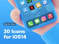 3D Icons for iOS 14 devices 🤙 by Alexander Shatov on Dribbble App Design, Icon Design, Branding Design, Youtube Instagram, 3d Icons, Screen Icon, 3d Assets, Ios Icon, Iphone Icon