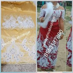 VIP beaded and hand stoned Nigerian Traditional wedding George wrapper for special occasion. This is quality Silk George and matching net blouse in Gold color/white stoned work. Sold per set of 5yds wrapper and 1.8yrds blouse fabric
