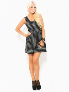 #Striped Skater #Dress
