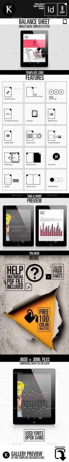 Balance Sheet Booklet Digital Template