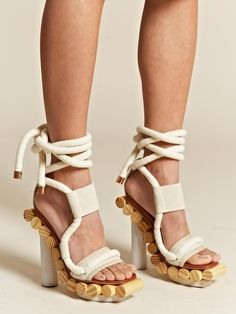 a little way too gorgeous - young brazilian pedro lourenco x alexandre birman wooden wrap sandals