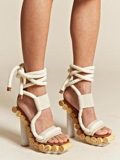 a little way too gorgeous - young brazilian pedro lourenco x alexandre birman wooden wrap sandals