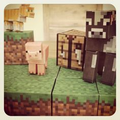 Minecraftpaper.com. They have free downloadable templates for all the Minecraft characters and blocks.
