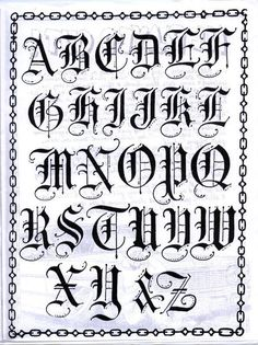 "Tats on my arm in ""Old English"" Fonts Tattoo Fonts Alphabet, Calligraphy Fonts Alphabet, Graffiti Alphabet, Cursive, Tattoo Lettering Styles, Chicano Lettering, Graffiti Lettering Fonts, Creative Lettering"