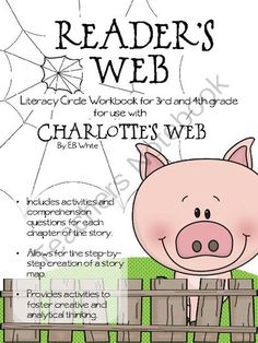 Charlottes Web Reading Log from Elementary Nerd on TeachersNotebook.com -  (22 pages)  - This reading log can be used to guide literacy circles or can be used as a whole class book study. This log follows each chapter and asks comprehension questions requiring text evidence. Also included are vocabulary words, story maps, word maps, and creat