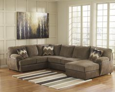 Buy Cladio Hickory Sectional Laf Sofa With Raf Corner Chaise And Armless Loveseat By Signature Rooms Home Decorsectional