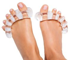 The Clear YogaToes Suggest Several Foot Related Health Benefits #yoga trendhunter.com