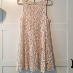 Cream lace Free People dress! Never worn and in perfect condition! Does not come with slip. Free People Dresses