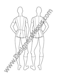 Male Fashion Croqui Mens Figure Back View V6 - FREE download and more male croquis in Illustrator & .png at designersnexus.com!
