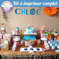 printable thème vaiana, topper, wrapper pour cupcakes... pour anniversaire, fête, baptème