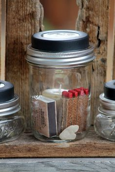 Solar Lanterns...with a few extra provisions in the stored in the jar :)