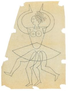 Fortunato Depero sketch for the De Marinis Lorie logo