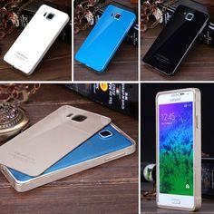Slim Metal Bumper Frame Acrylic Back Cover Case For Samsung Galaxy Alpha G850F