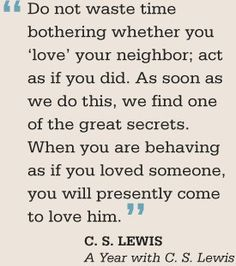 One of my favorite C. S. Lewis Quotes