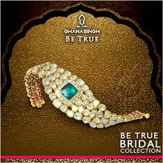 Bridal look is incomplete unless you are donning this artistically designed #bracelet from Ghanasingh Be True! #BeTrueBride #BrideOfToday #BridalJewellery #Fashion