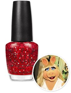 Gettin' Miss Piggy With It!  Ever the diva, Miss Piggy's second shade is a glitter-packed red. We wouldn't have it any other way!