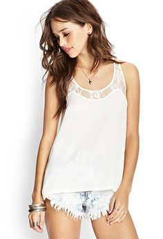 Georgette Lace Tank | FOREVER21