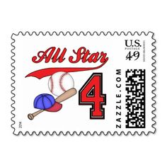 Shop All Star Baseball Birthday Postage created by Kewlkids. Personalize it with photos & text or purchase as is! Sports Theme Birthday, Baseball Birthday, 1st Birthday Parties, 4th Birthday, Birthday Ideas, All You Need Is, Business Card Design, Postage Stamps, All Star