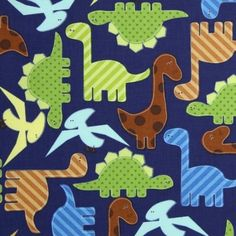 Amazon.com: Robert Kaufman Urban Zoologie Dinosaurs Navy Blue, 44-inch (112cm) Wide Cotton Fabric Yardage: Arts, Crafts & Sewing