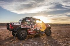 Al Attiyah and Baumel may be new to the Toyota Gazoo Racing SA team, but they're certainly no strangers to the Toyota Hilux. #evocorseracingwheels #dontmissing #dakar #2017