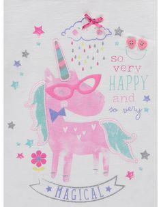 Unicorn Print Top | Kids | George at ASDA