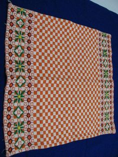 Chicken Scratch, Embroidery Stitches, Table Clothes, Cross Stitch, Sewing, Crochet Fish, Tejidos, Straight Stitch, Sewing Aprons
