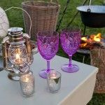 I want the purple wine glasses!! Glamping accessories... click the image for more