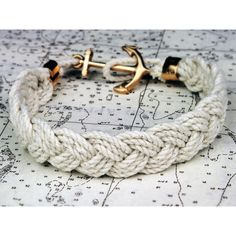 "The ""Turk's Head Knot"" sailor rope bracelets are a re-creation of the timeless beach-side accessory. Each bracelet is hand-braided from custom made high, quality twisted cotton cord in various weathered New England color combinations. The cotton rope used in each is carefully hand braided in Rhode Island complete with a solid brass anchor clasp.  Sizing: X Small  6.5"" Small      7"" Medium   7.5""  Large      8""  X Large  8.5"" $40.00"