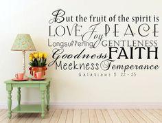 Fruit Of The Spirit Vinyl Wall Decal - Galatians 5:22-23