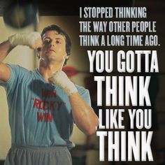 GRANDETO: I stopped thinking the way other people think a long time a go. You gotta think like you think! Balboa