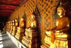 Buddhas in Grand Palace in Bangkok
