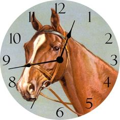 Great horse clock for a western themed bedroom, playroom or any room.