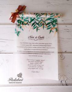6a8f7d4b81 greenery kémcsöves esküvői meghívó - greenery test tube wedding invitation