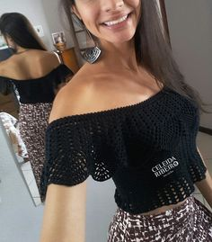 19 Trendy Crochet Shawl Chart Free Pattern Beautiful Again, we can e… Black Crochet Dress, Crochet Crop Top, Crochet Blouse, Crochet Shawl, Knit Crochet, Dress Black, Mode Crochet, Online Dress Shopping, Beautiful Crochet