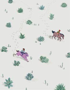Jeannie Phan Illustration - Succulent Desert Rider