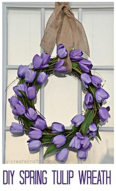 DIYSpring Tulip Wreath