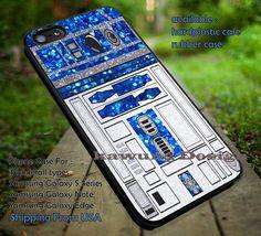 Glitter R2D2 Star Wars iPhone 6s 6 6s 5c 5s Cases Samsung Galaxy s5 s6 Edge NOTE 5 4 3 #movie #starwars dt