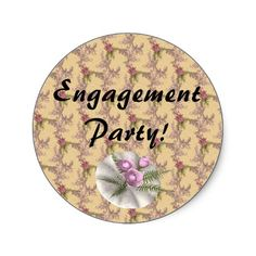 Bouquet Floral Tan Colored Heart Round Sticker from http://www.zazzle.com/fern+stickers