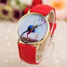 reloj patrón alces abstracto pu cuarzo de la venda de las mujeres (colores surtidos) – EUR € 6.43