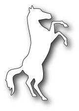 [1211] DIES- Bucking Bronco,#poppystamps, #craft, #die, #horse, #animal, #mustang, #pet, #bronco, #cowboy, #western,