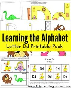 Learning the Alphabet Letter D Printable Pack