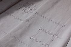 French Antique Bed Linen by TempusAntiques on Etsy https://www.etsy.com/listing/227410138/french-antique-bed-linen