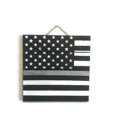 Pin now, read later. Thin Silver Line Wood Pallet Sign, Corrections Officer, Correctional Officer, American Flag Home Decor, Police Officer Gift, Thin Grey Line