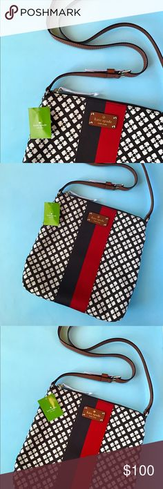 "Kate Spade Crossbody Victoria Bag Lovingly crafted from canvas leather with adjustable, hands-free crossbody strap, this bag is a lasting on-the go companion. Its roomy, lined interior provides ample space for daily essentials, while its motif boasts signature Kate Spade style. Dimensions : 10.5"" W x 11 H x 2.75"" D - 13"" strap length. Outer: leather - Lining : polyester. kate spade Bags Crossbody Bags"