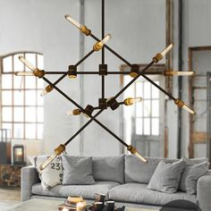 Circa - 6 line 12 heads pendant light : Tudo and co – Tudo And Co Chandelier Ceiling Lights, Ceiling Lamp, Pendant Lighting, Wall Lights, Ceiling Ideas, Kitchen Lighting, Home Lighting, Modern Lighting, Garden Gates